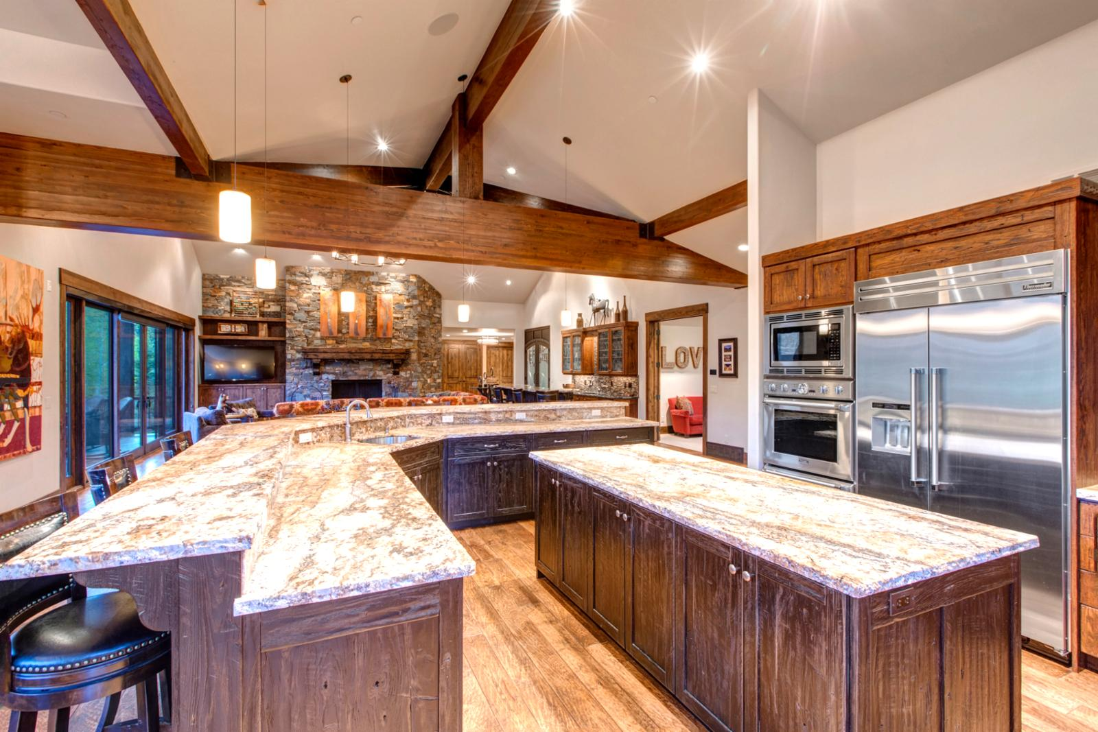 Cook & socializing is no problem with this open concept kitchen