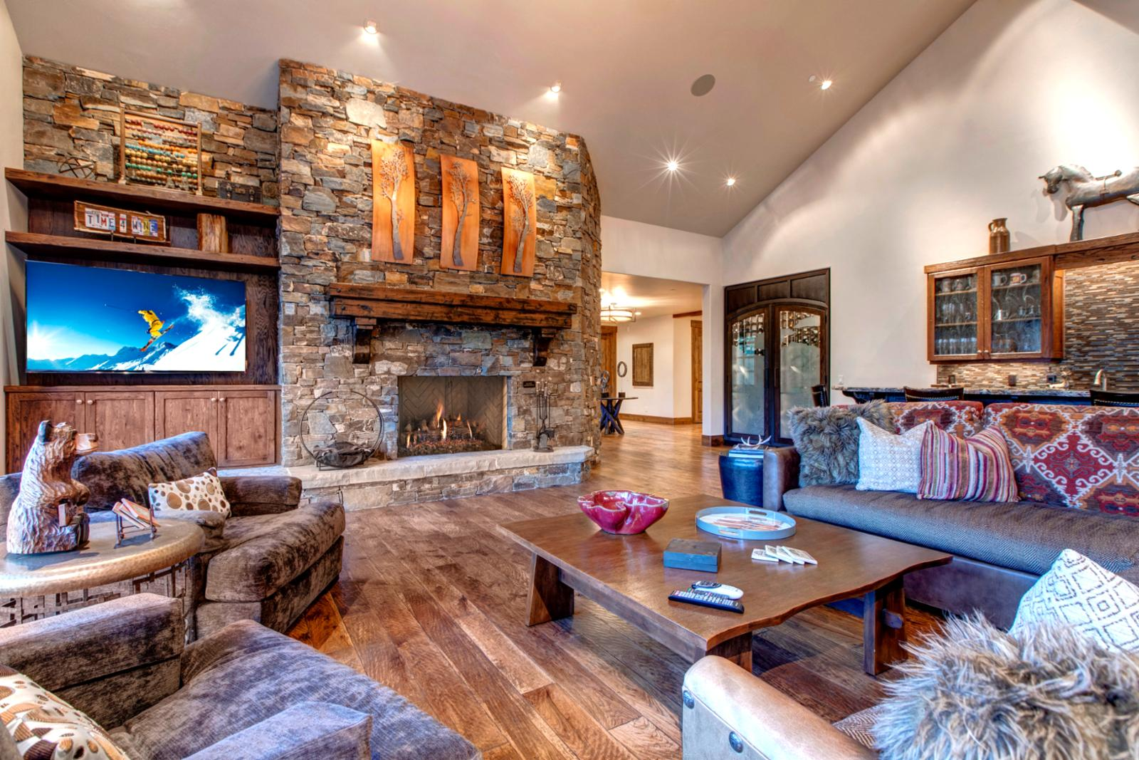 Cozy up to the crackling fire and take time to watch your favorite shows together