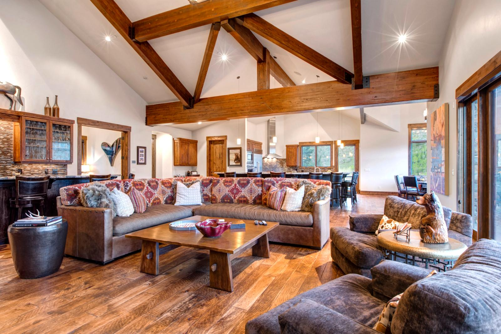 An open floor plan that has space for everyone together