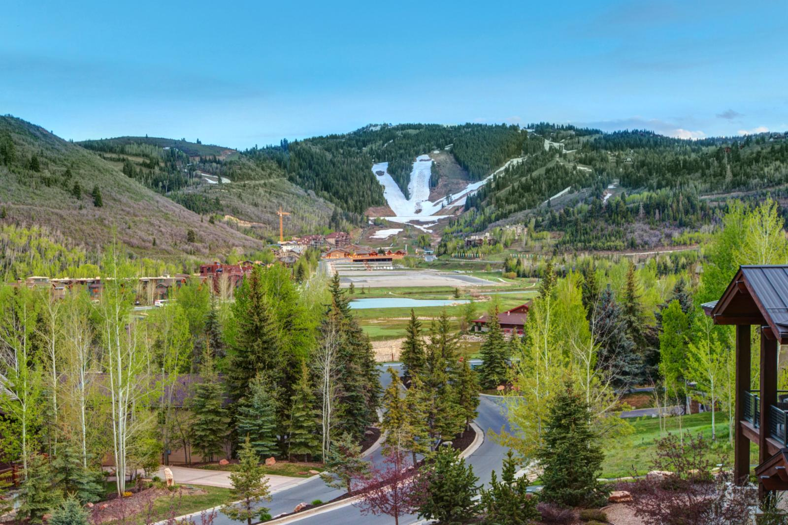 Breath taking views of the World Cup course during winter and Deer Valley concerts in summer