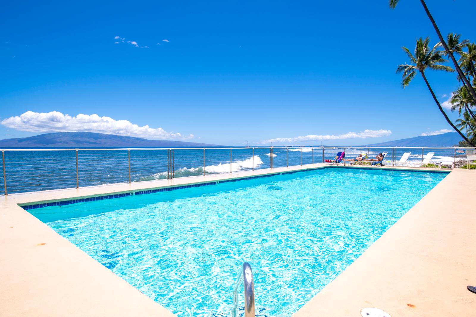 One of several pools, this stunning pool is located beachfront!