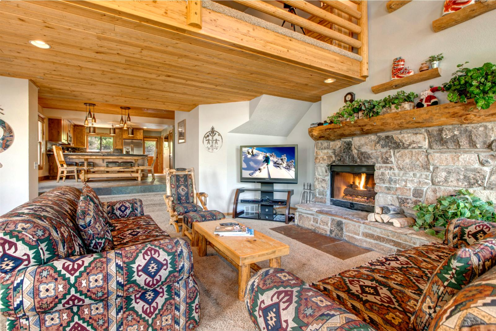 Snuggle up to a crackling wood fireplace and watch Park City Channel