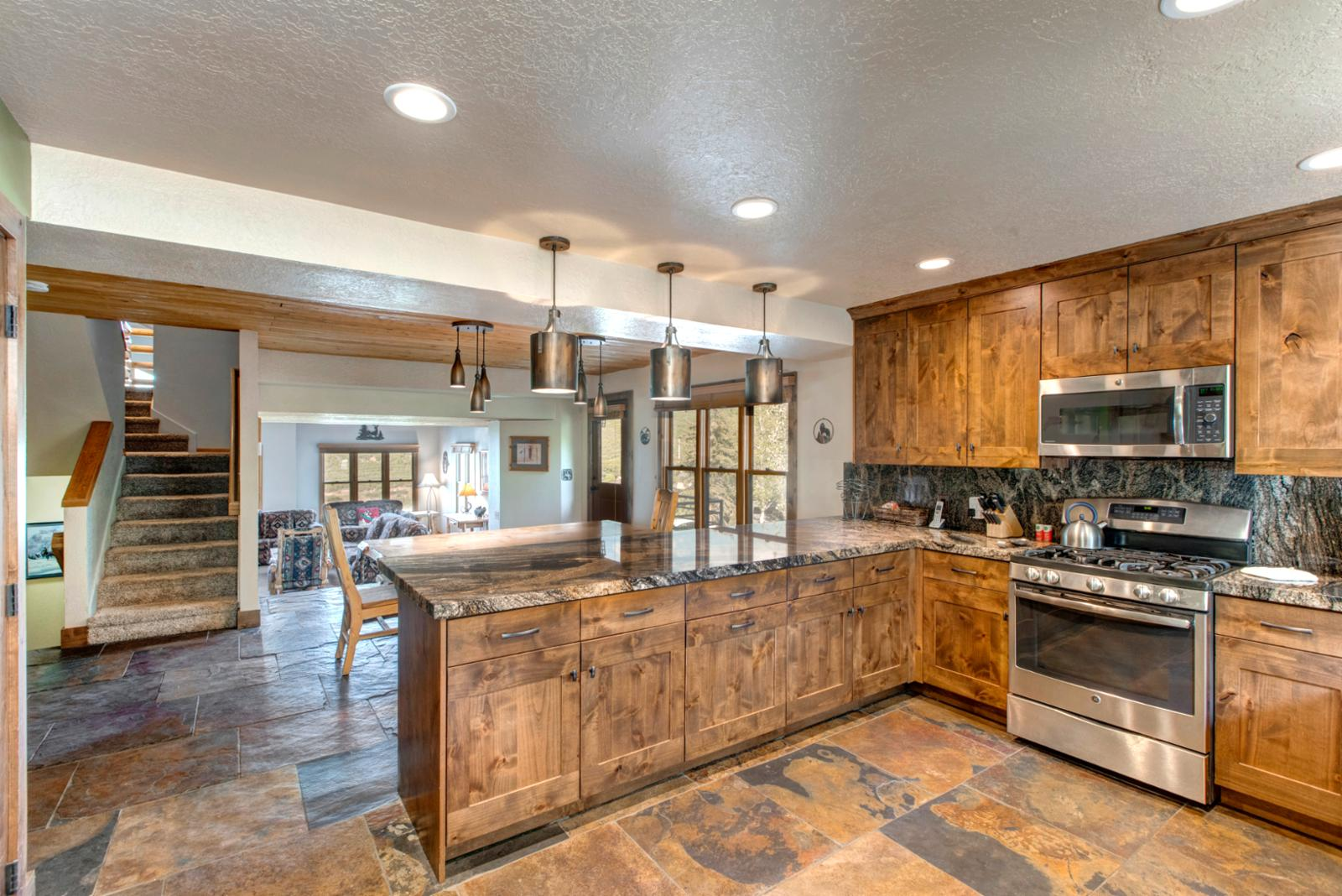 Hardwood, slate, and granite - top of the line appliances for your comfort