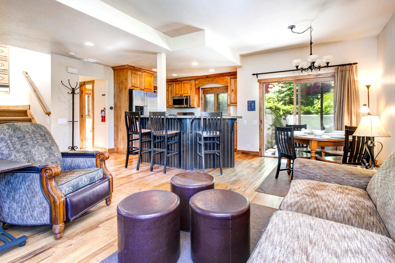 Full open floor plan allows all to gather and reminisce of the days adventures