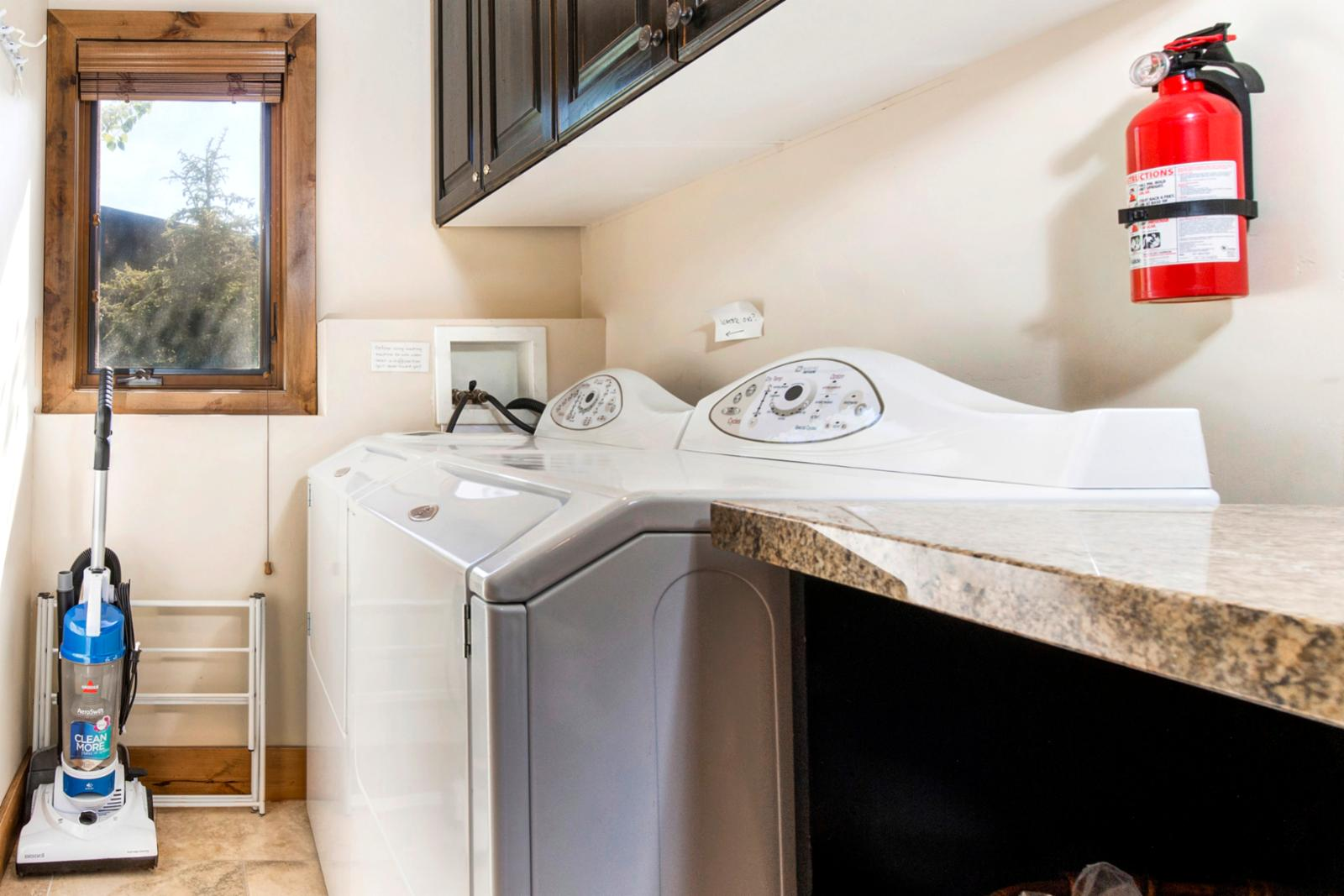 Full size washer | dryer for your convenience right off the main level