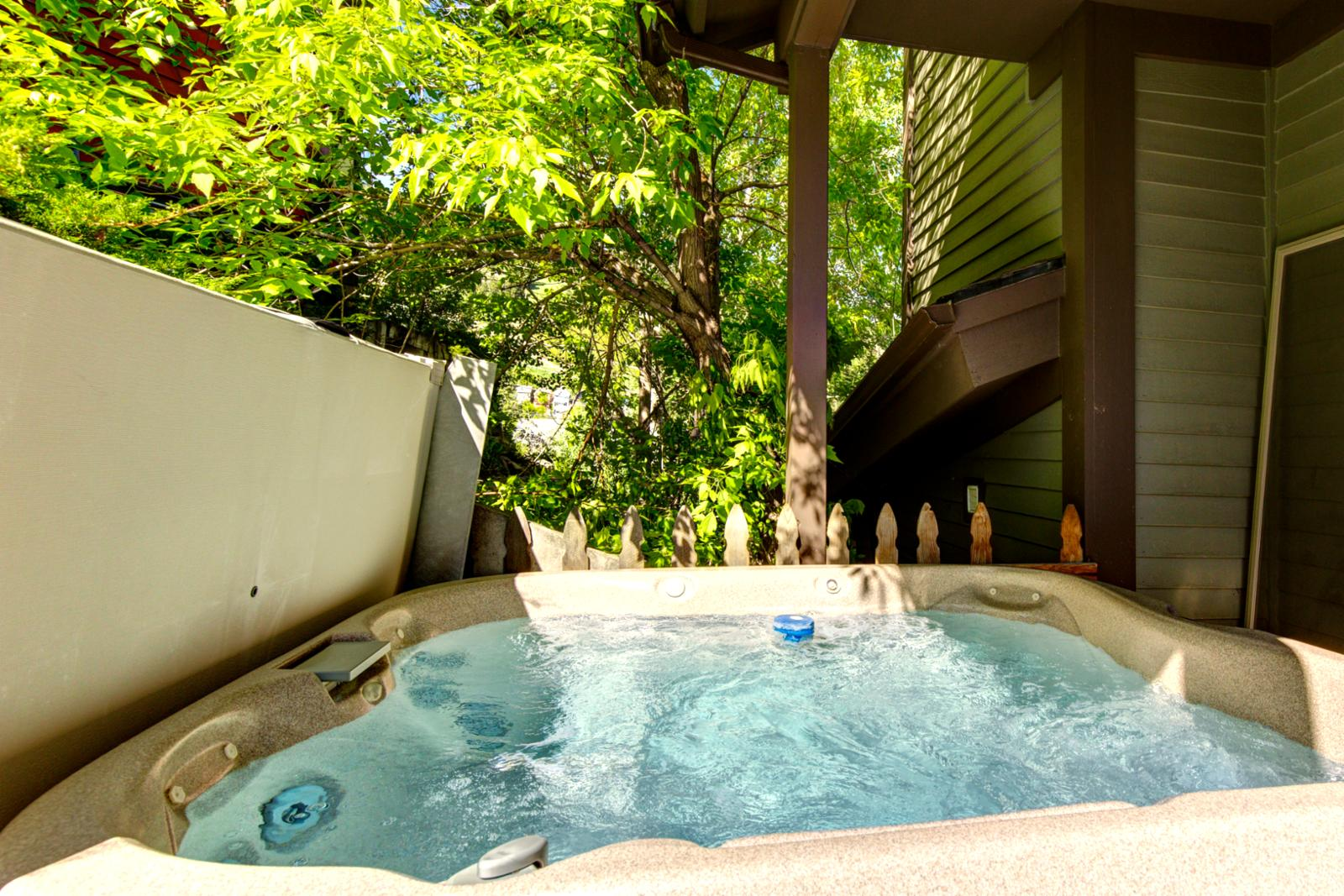 Private hot tub for your comfort