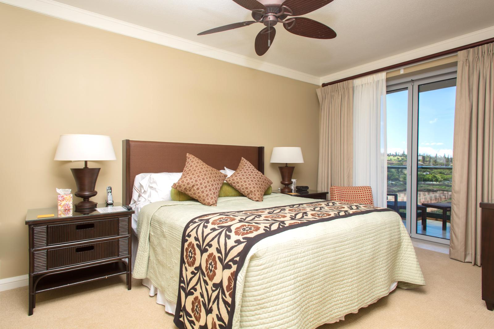 Large Master Bedroom With Plush King Size Bed To Relax In